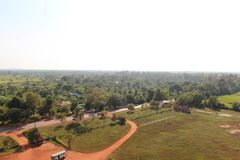Angkor from the balloon Royalty Free Stock Photo
