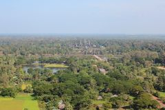 Angkor from the balloon Stock Photography