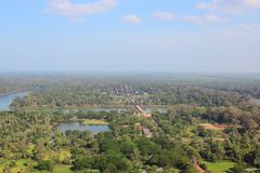 Angkor from the balloon Stock Images