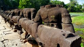 Angkor balustrade Stock Photo
