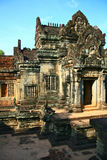 angkor banteay柬埔寨samre 免版税库存照片