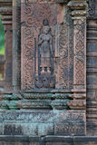 angkor banteay柬埔寨srei 库存照片