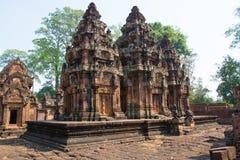 angkor banteay柬埔寨srei 免版税库存照片