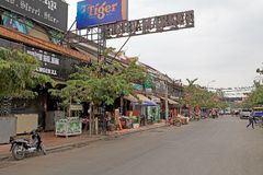 angkor banteay Cambodia jeziorni lotuses przeprowadzać żniwa siem srey świątynię Obrazy Stock