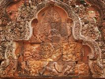 angkor banteay cambodia nära sreitempelwat Arkivbilder