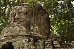 angkor柬埔寨 高棉Banteay Kdei寺庙废墟 免版税图库摄影