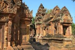 angkor banteay srey寺庙 免版税库存图片