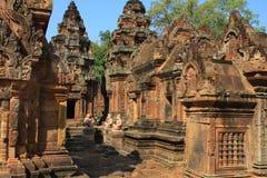 angkor banteay srey寺庙 库存图片