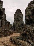 angkor bayon寺庙 图库摄影