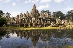 angkor bayon寺庙 免版税库存照片