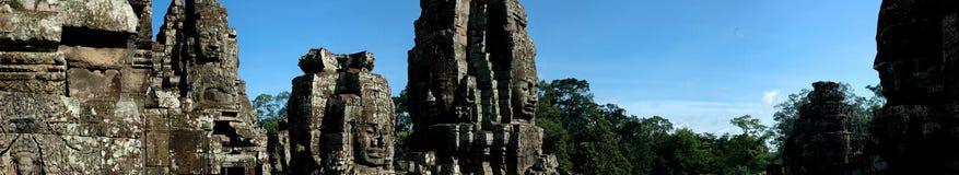 angkor bayon寺庙wat 库存图片