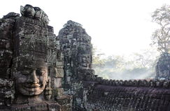 angkor bayon柬埔寨收割siem寺庙 免版税库存照片