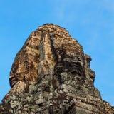 angkor bayon柬埔寨面对寺庙 免版税图库摄影