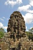 angkor bayon表面寺庙thom塔 免版税库存图片
