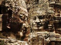 Angkor - Bayon Tempel stockfoto