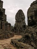 Angkor - Bayon Tempel stockfotografie