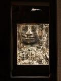 Angkor - Bayon Tempel lizenzfreie stockfotografie