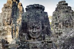 Angkor Bayon temple Royalty Free Stock Photos