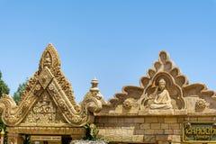 Angkor-Bereich im Hafen Aventura-Vergnügungspark in Spanien Stockfoto