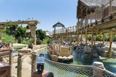 Angkor-Bereich im Hafen Aventura-Vergnügungspark in Spanien Lizenzfreie Stockfotos