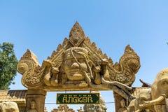 Angkor-Bereich im Hafen Aventura-Vergnügungspark in Spanien Lizenzfreie Stockfotografie