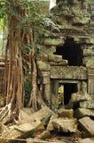 Angkor, Cambodge Ruines de temple de Banteay Kdei de Khmer Images stock