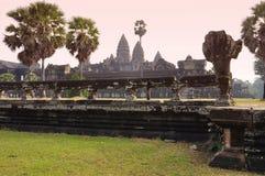 Angkor, Cambodge Temple d'Angkor Vat de Khmer Photo libre de droits