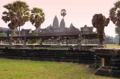 Angkor, Cambodia. Khmer Angkor Wat temple Royalty Free Stock Photo