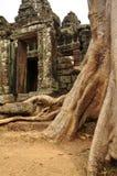 Angkor, Cambodia. Khmer Banteay Kdei temple ruins Stock Photos