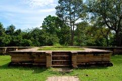 angkor Cambodia przeprowadzać żniwa siem świątynię Obrazy Royalty Free