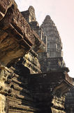 Angkor, Cambodia. temple ruins sculpture detail Stock Images
