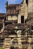 Angkor, Cambodia. temple ruins sculpture detail Royalty Free Stock Photography