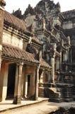 Angkor, Cambodia. temple ruins sculpture detail Royalty Free Stock Photos