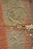 Angkor, Camboya Detalle de la escultura del templo del Khmer Fotografía de archivo libre de regalías