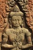 Angkor, Camboya Detalle de la escultura del templo del Khmer Foto de archivo libre de regalías