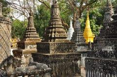 Angkor, Camboya Pagodas budistas Imagen de archivo