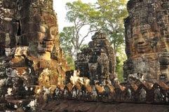 Angkor, Camboya Templo de Bayon del Khmer Imagen de archivo libre de regalías