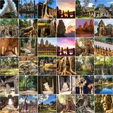 Angkor collage Stock Image