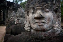 angkor demonu twarzy statuy świątynne Zdjęcia Stock