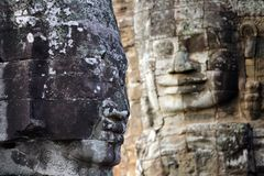 Angkor face sculpture Stock Images