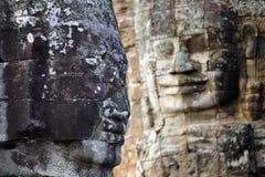 Angkor face sculpture Stock Images