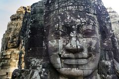 Angkor giant faces Royalty Free Stock Image