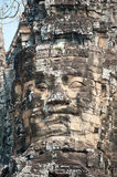 Angkor giant faces Stock Images