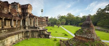 Angkor and jungle Royalty Free Stock Image