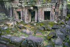 Angkor Jungle Temple Crumbling Architecture Stock Images