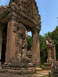 angkor khan preah寺庙 图库摄影