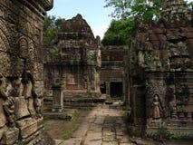 angkor khan preah寺庙 库存照片