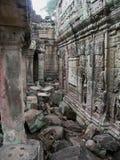 angkor khan preah寺庙 免版税库存照片