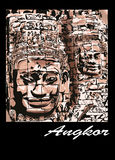 Angkor - le Bayon Illustration de Vecteur