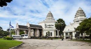 Angkor nationellt museum, Siem Reap, Cambodja. Arkivbild